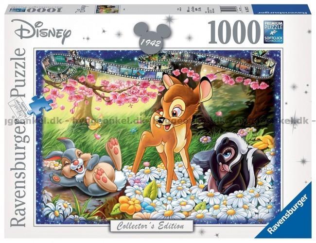 Topp Disney: Bambi, 1000 brikker puslespill! Frakt 149 kr WD-53