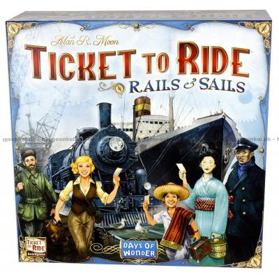 Bilde av Ticket to Ride: Rails & Sails - Norsk