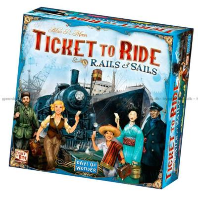 Bilde av Ticket to Ride: Rails & Sails - Engelsk
